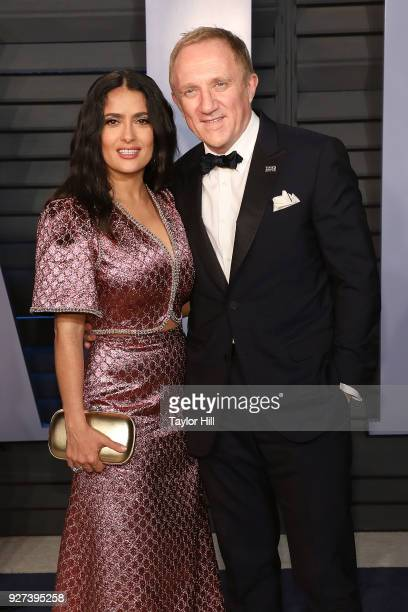 FrancoisHenri Pinault and actress Salma Hayek attend the 2018 Vanity Fair Oscar Party hosted by Radhika Jones at Wallis Annenberg Center for the...