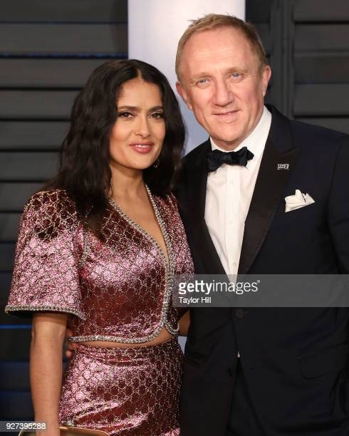 Francois-Henri Pinault and actress Salma Hayek attend the 2018 Vanity Fair Oscar Party hosted by Radhika Jones at Wallis Annenberg Center for the...
