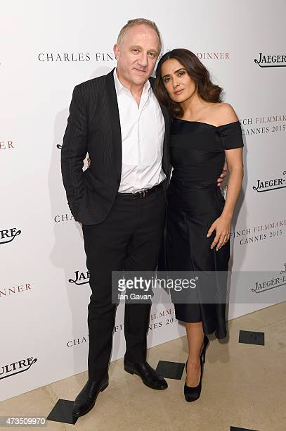 FrancoisHenri Pinault and actress Salma Hayek attend 'The Art Of Behind The Scenes JaegerLeCoultre And Finch Partners' party at Hotel du CapEdenRoc...