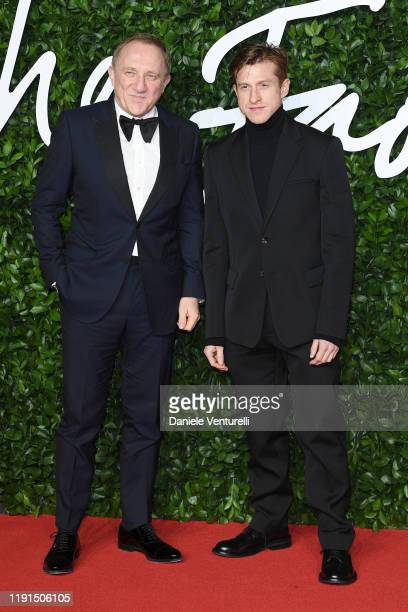 Francois-Henri Pinault and Daniel Lee arrives at The Fashion Awards 2019 held at Royal Albert Hall on December 02, 2019 in London, England.