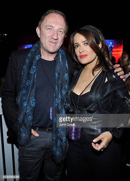 FrancoisHenri Pinault and Salma Hayek attend D'USSE VIP riser and lounge at 'On The Run Tour' at Rose Bowl on August 2 2014 in Pasadena California