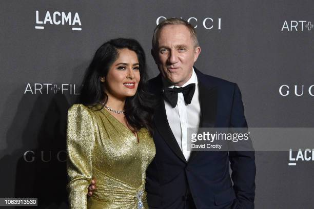 FrancoisHenri Pinault and Salma Hayek attend LACMA Art Film Gala 2018 at Los Angeles County Museum of Art on November 3 2018 in Los Angeles CA