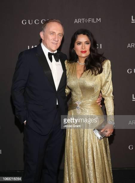 Francois-Henri Pinault and Salma Hayek attend the 2018 LACMA Art + Film Gala at LACMA on November 03, 2018 in Los Angeles, California.