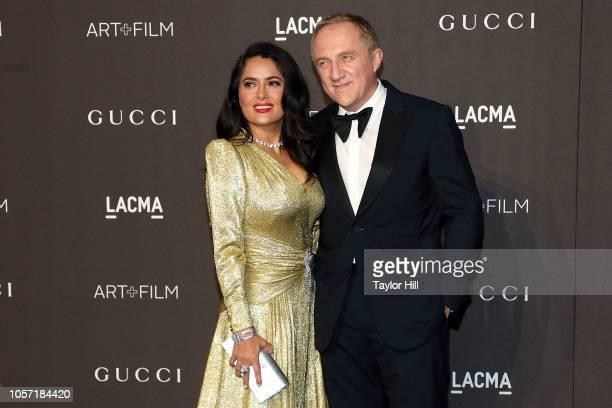 FrancoisHenri Pinault and Salma Hayek attend the 2018 LACMA ArtFilm Gala at LACMA on November 3 2018 in Los Angeles California