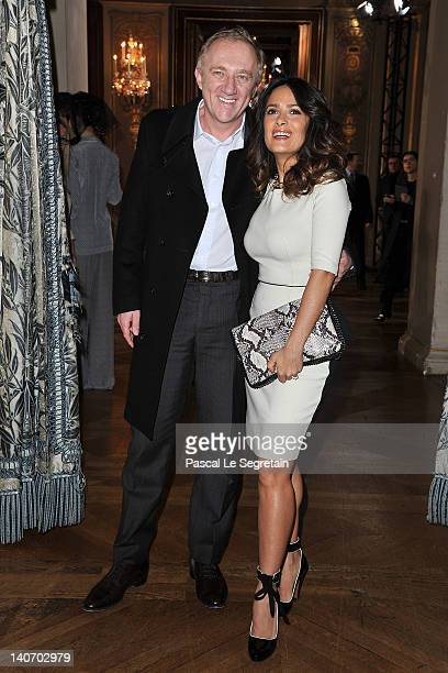 Francois-Henri Pinault and Salma Hayek attend the Stella McCartney Ready-To-Wear Fall/Winter 2012 show as part of Paris Fashion Week on March 5, 2012...