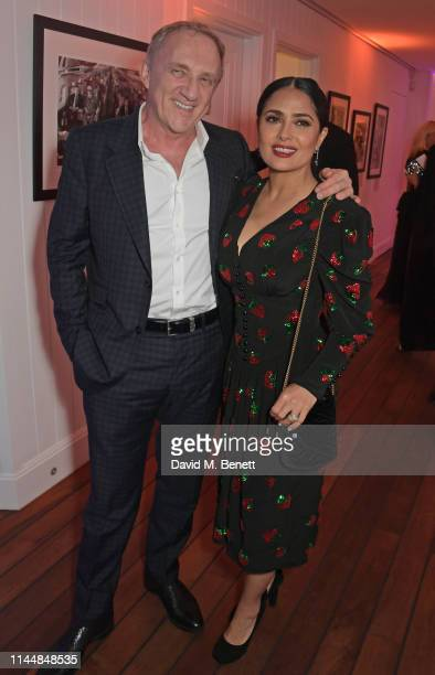 Francois-Henri Pinault and Salma Hayek attend the Vanity Fair and Chopard Party celebrating the 72nd Annual Cannes Film Festival at Hotel du...