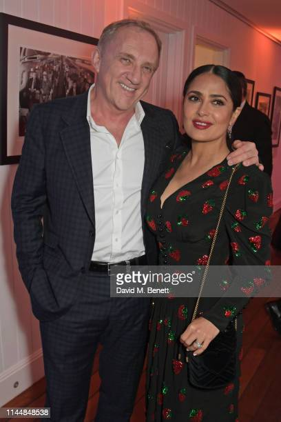 FrancoisHenri Pinault and Salma Hayek attend the Vanity Fair and Chopard Party celebrating the 72nd Annual Cannes Film Festival at Hotel du...