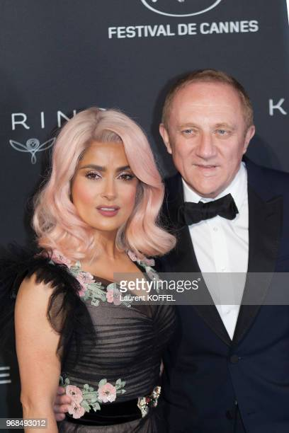 FrancoisHenri Pinault and Salma Hayek attends the Women in Motion Awards Dinner at the 70th Cannes Film Festival at Place de la Castre on May 21 2017...