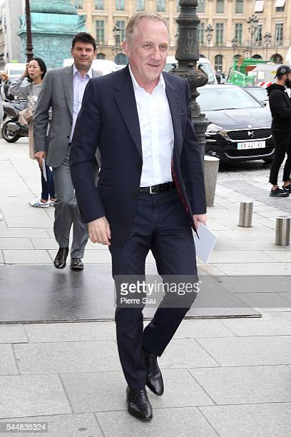 FrancoisHenri Pinault arrives at the Presentation of Maison Boucheron New 'Haute Joaillerie' Collection as part of Paris Fashion Week on July 4 2016...