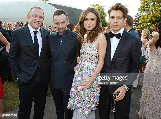 FrancoisHenri Pinault Brendan Mullane Keira Knightley and James Righton attend The Serpentine Gallery Summer Party cohosted by Brioni at The...