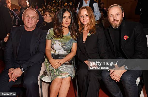 FrancoisHenri Pinault CEO of Kering Salma Hayek Stella McCartney and Alasdhair Willis attends the 2016 Kering Talk at the London College of Fashion...