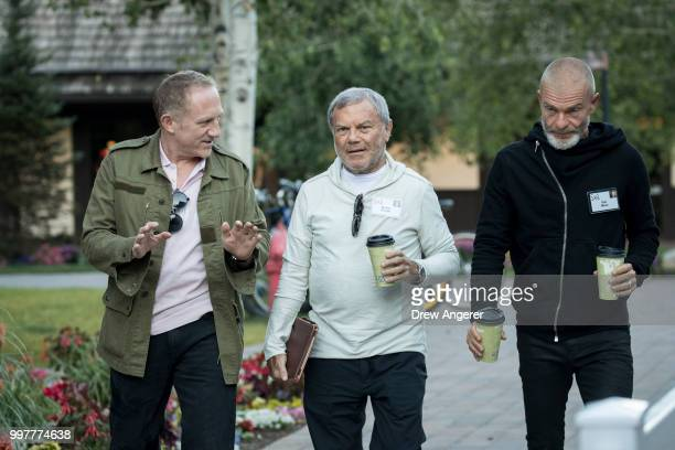 FrancoisHenri Pinault chief executive officer of Kering Martin Sorrell chief executive officer of Wire and Plastic Products and venture capitalist...