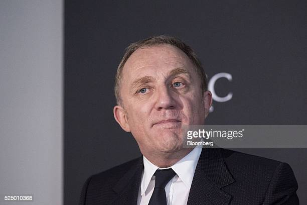 Francois-Henri Pinault, chief executive officer of Kering SA, listens during a luxury partnership event at HEC business school in Paris, France, on...
