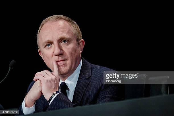 FrancoisHenri Pinault chief executive officer of Kering SA looks on during the luxury brand's annual general meeting in Paris France on Thursday...