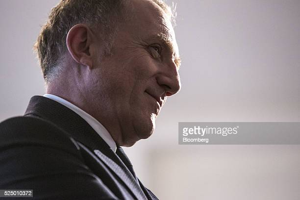 Francois-Henri Pinault, chief executive officer of Kering SA, pauses during a luxury partnership event at HEC business school in Paris, France, on...