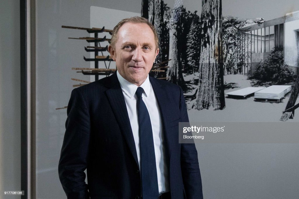 Francois-Henri Pinault, chief executive officer of Kering SA, poses for a photograph after a Bloomberg Television interview following the announcement of the company's annual results in Paris, France, on Tuesday, Feb. 13, 2018. Kering brands ranging from Saint Laurent to streetwear label Balenciaga joined Gucci in reaping the fruit of youth-focused reboots. Photographer: Christophe Morin/Bloomberg via Getty Images