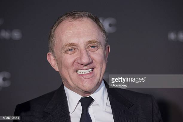 Francois-Henri Pinault, chief executive officer of Kering SA, smiles during a luxury partnership event at HEC business school in Paris, France, on...