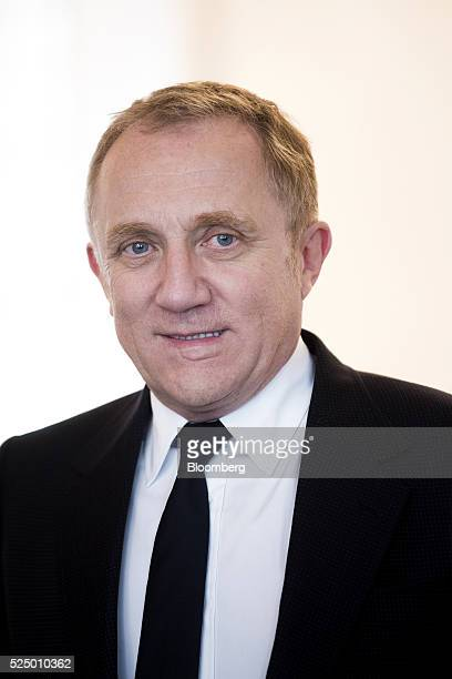 Francois-Henri Pinault, chief executive officer of Kering SA, stands for a photograph during a luxury partnership event at HEC business school in...