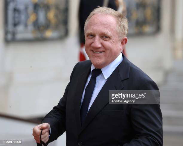 Francois-Henri Pinault, French CEO of luxury group Kering arrives for a state dinner with the French President Emmanuel Macron and the Italian...