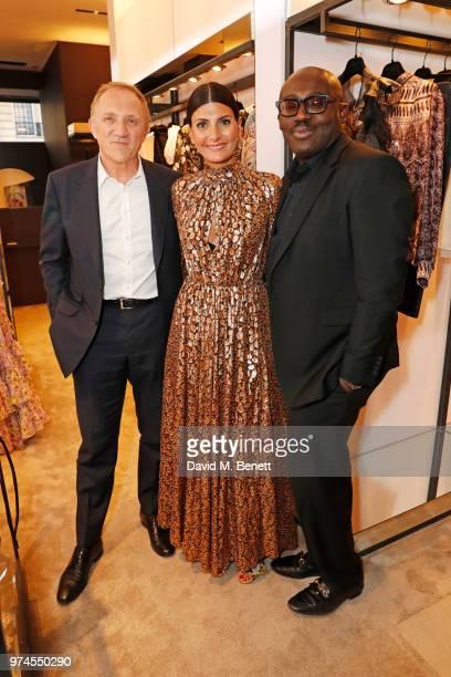 FrancoisHenri Pinault Giovanna Battaglia Engelbert and Edward Enninful attend the Giambattista Valli London store opening on Sloane Street on June 14...