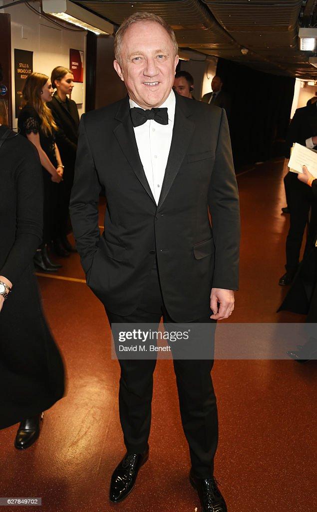 Francois-Henri Pinault poses backstage at The Fashion Awards 2016 at Royal Albert Hall on December 5, 2016 in London, United Kingdom.