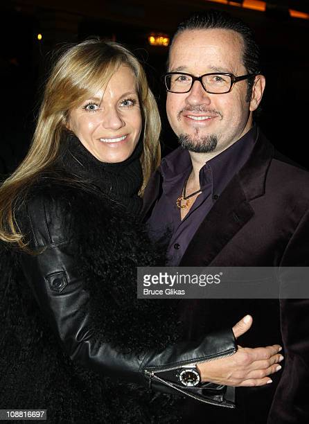 FrancoisHenry Bennahmias and his wife Alice Bennahmias pose at a special performance of Memphis for Inspire Change presented by Audemars Piguet The...