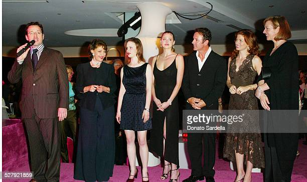 FrancoisHenry Bennahmias Evelyn H Lauder Thora Birch Estella Warren Colin Cowie Debra Messing and Allison Janney