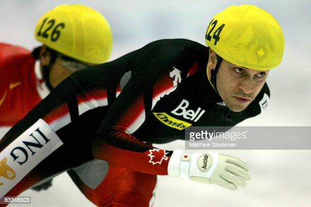 FrancoisLouis Tremblay of Canada competes in the 500 meter quarterfinals during the Samsung ISU World Cup Short Track at the Utah Olympic Oval...