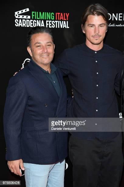 FrancoisMarc Sastre and Josh Hartnett attend the 'Filming Italy Sardegna Festival' Dinner at Forte Village Resort on June 15 2018 in Santa Margherita...