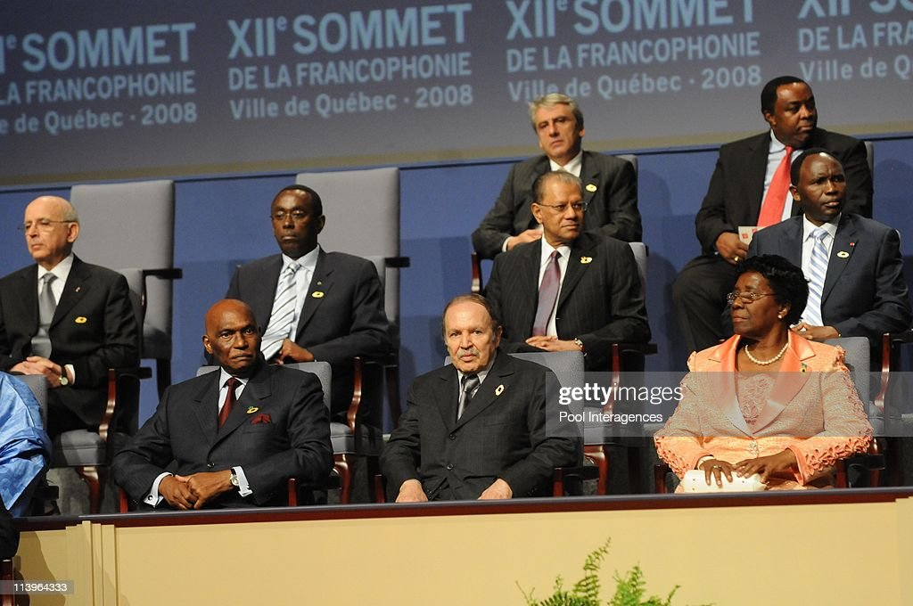 XII Francophonie summit, In Quebec, Canada On October 17, 2008- : News Photo