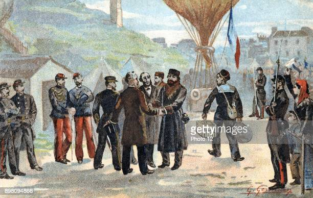 FrancoPrussian War 18701871 Leon Gambetta French Republican politician about to escape besieged Paris for Tours by balloon 7 October 1870 Dictator of...