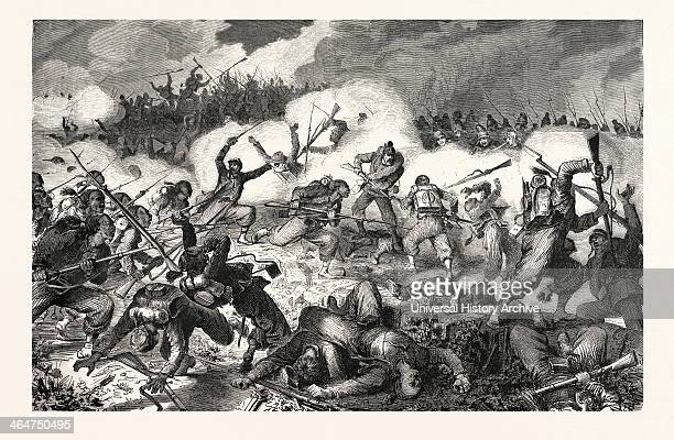 Fight The 10th Bavarian Battalion Of Hunters Against The Turcos In The Vineyards Of Wissembourg The August 4 1870.