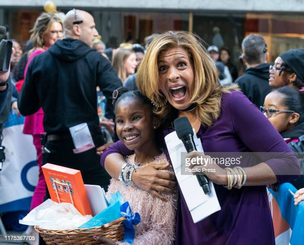 Franiya Tiffany recipient of Amazon gift and Hoda Kotb attend Alessia Cara performance during NBC Today Show in honor of International Day of the...