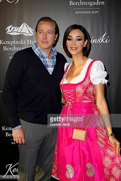 Franjo Pooth and Verona Pooth during the Kempinski Hotel Berchtesgaden opening party on May 8 2015 in Berchtesgaden Germany