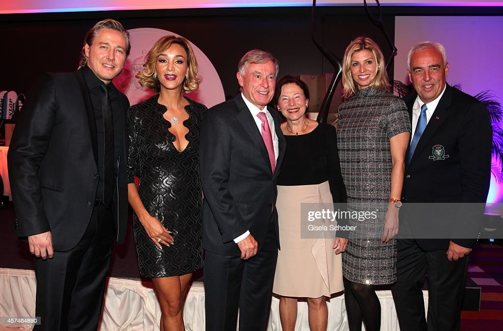 Franjo Pooth, Verona Pooth, Horst Koehler, Eva Luise Koehler, Katerina Schroeder and Hans-Reiner Schroeder attend the Monti Memorial Charity Gala at Hotel Vier Jahreszeiten on October 18, 2014 in Munich, Germany.