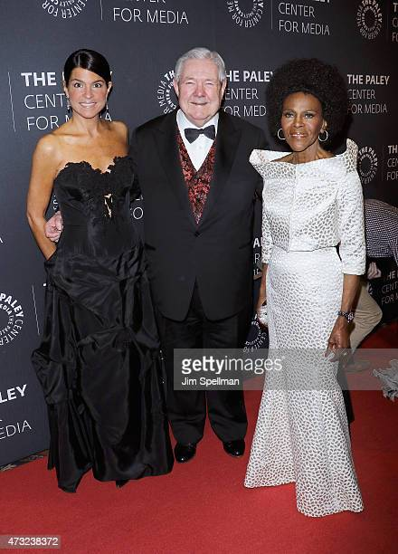 Frank A Bennack Jr with actress Cicely Tyson attend the The Paley Center For Media hosts a tribute to AfricanAmerican achievements in television at...