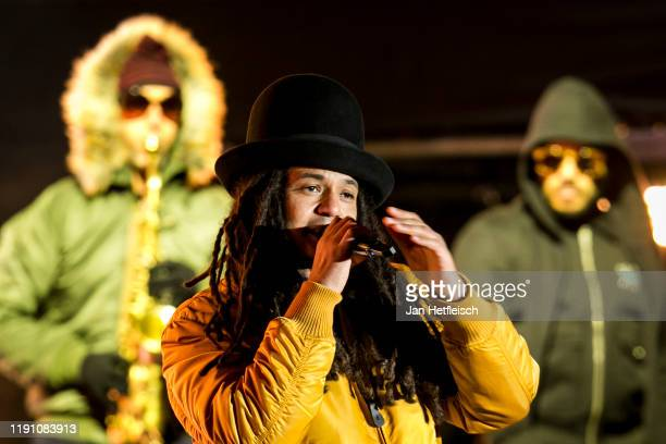 """Frank A. Delle of the german band Seed perform live on stage during the """"Top Of The Mountain"""" concert on November 30, 2019 in Ischgl, Austria."""