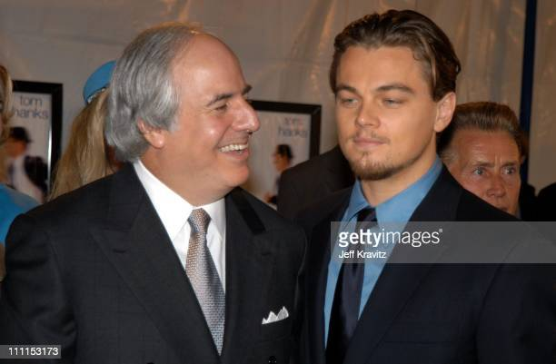 Frank Abangale Jr and Leonardo DiCaprio during Dreamworks Premiere of Catch Me If You Can at Mann Village Theater in Westwood California United States
