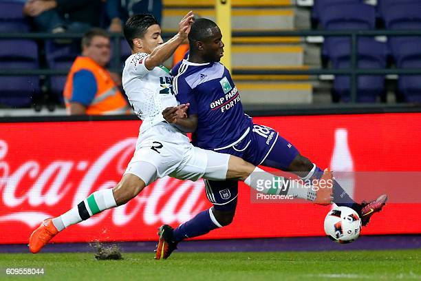 Frank Acheampong forward of RSC Anderlecht pictured during Croky Cup match between RSC Anderlecht and OHL on September 21 2016 in Brussels Belgium