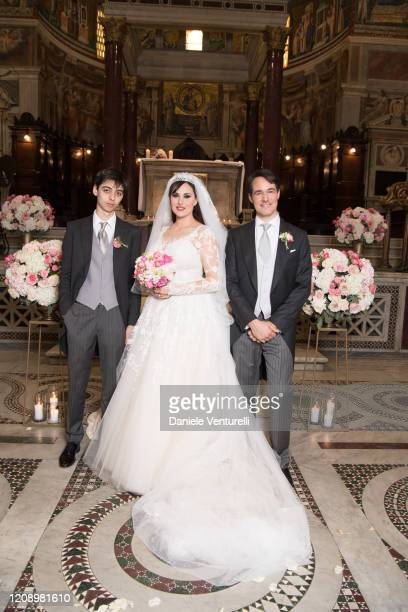 Frank Albert Maietto Vittorio Palazzi Trivelli And Isabelle Adriani attend the wedding of Earl Vittorio Palazzi Trivelli And Isabelle Adriani on...