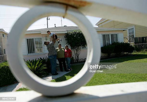 Frank Amaro with son Happy 2 1/2 wife Deborah and daughter Jessie 11 at their newly bought home in Hawaiian Gardens Frank Amaro bought the 3–bedroom...