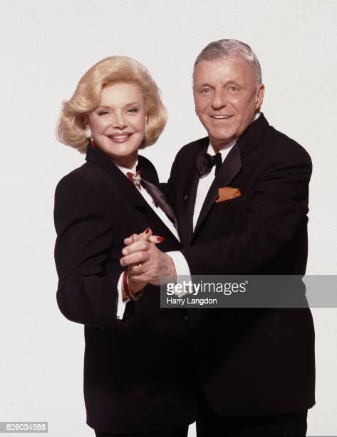 Frank and Barbara Sinatra pose for a portrait in 1990 in Los Angeles, California.
