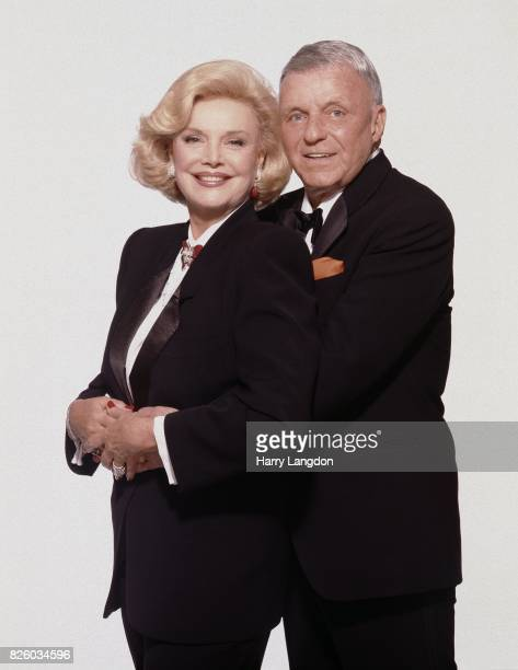 Frank and Barbara Sinatra pose for a portrait in 1990 in Los Angeles California