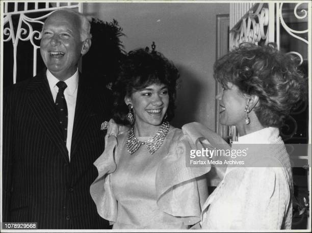 Frank and Susan Renouf are joined at their party by Mrs Renouf's daughter Anne Peacock September 4 1985