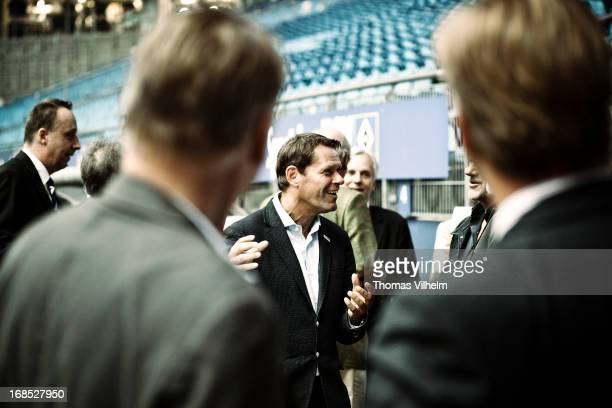 Frank Arnesen at a business meeting at the Imtech Arena in Hamburg, Germany, 3rd August 2012. Former Danish football player, currently sporting...