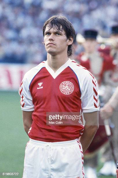 Frank Arnesen during the Football European Championship between Denmark and Belgium at Stade La Meinau Strasbourg France on 19 June 1984