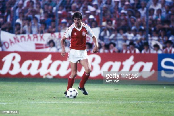 Frank Arnesen of Denmark during the European Championship match between Denmark and Belgium at La Meinau Strasbourg France on 19th June 1984