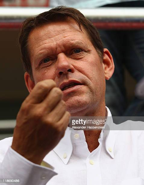 Frank Arnesen sport director of Hamburger SV looks on during the preseason friendly match between Hamburger SV and FC Ingolstadt 04 at Audi Sportpark...