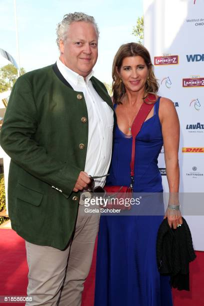 Frank Asbeck and wife Susanne AsbeckMuffler during the media night of the CHIO 2017 on July 18 2017 in Aachen Germany
