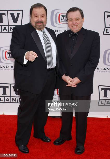 Frank Bank and Jerry Mathers during 3rd Annual TV Land Awards Arrivals at Barker Hangar in Santa Monica California United States